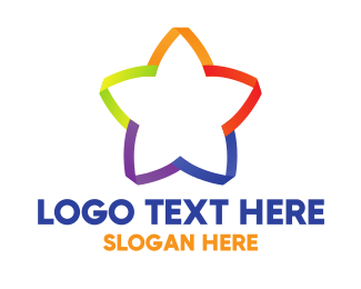 Blossom - Rainbow & Star logo design