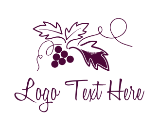 Vine - Grapevine Vineyard logo design