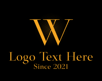 Luxury - Classic Orange Letter W logo design
