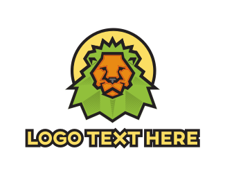 Green And Yellow - Green Lion logo design