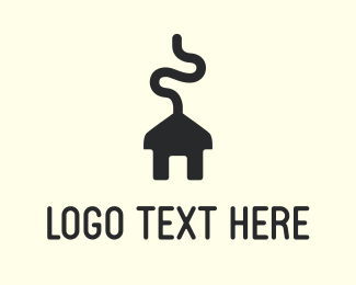 Plug - House Charger logo design
