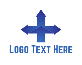 West - Blue Cross Directions logo design