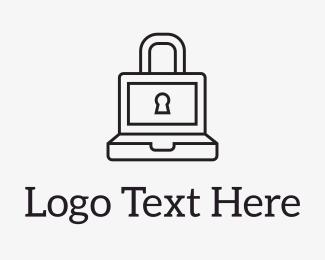 Security - Laptop Lock logo design