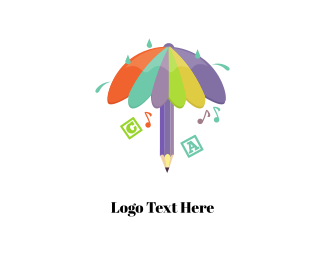 Daycare - Education & Umbrella logo design