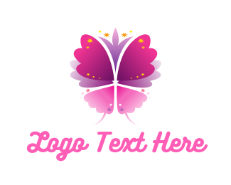 Fairy - Sparkling Butterfly logo design