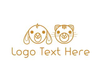 Friend - Cute Golden Pets logo design