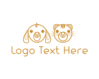 Friend - Cute Golden Pets logo design