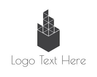 Structure - Geometric Building logo design