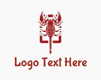 Tablet - Red Scorpion logo design
