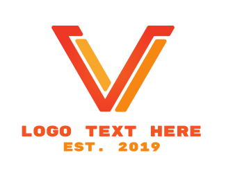 Programming - Red Yellow Modern V logo design