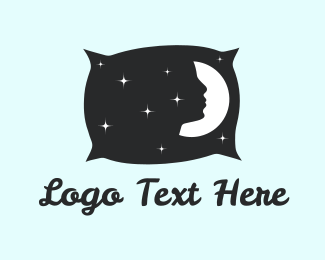 Rest - Night Pillow logo design