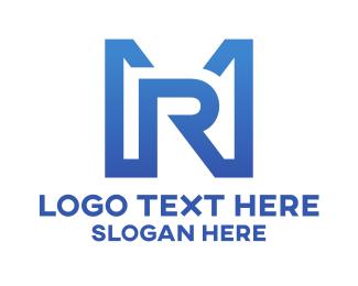 Typography - M & R logo design
