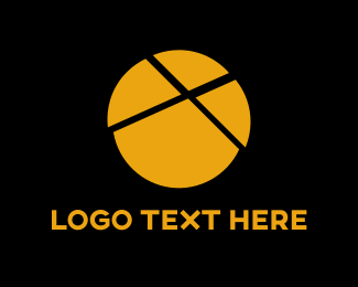 Split - Yellow Pie Chart logo design