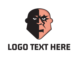 Sci-fi - Bald Villain logo design