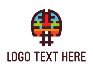 Scientific - Brain Hash logo design