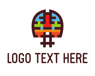 Hashtag - Brain Hash logo design