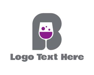 Fermented - Wine Glass B logo design