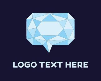 Speech - Diamond Chat logo design