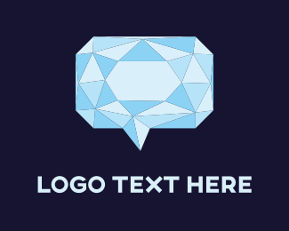 Translation - Diamond Chat logo design