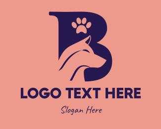 Dog - Dog Letter B logo design