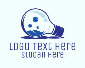 Lightbulb - Blue Bulb logo design