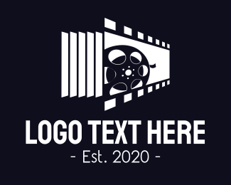 Filmstrip - Movie Reel logo design