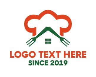 Minimalist - Orange Chef Restaurant  logo design