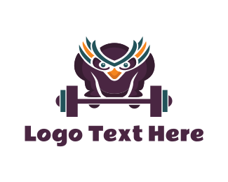 Muscle - Strong Owl logo design