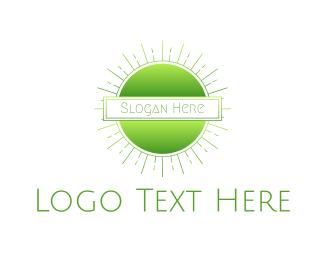 Shine - Green Gradient Sun logo design