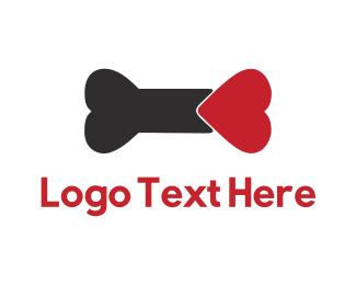 Pet Care - Heart Bone logo design