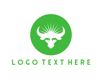 Milk - Green Bull logo design
