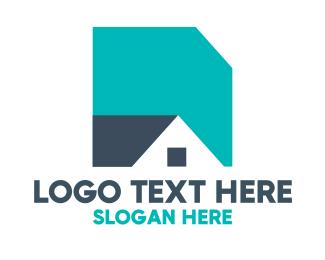 Land Developer - Basic Shape House logo design