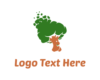 Mushroom - Walking Tree logo design