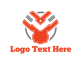 Wrench - Industrial Circle logo design
