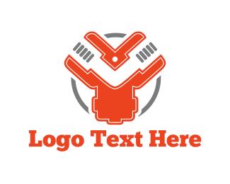 Repair - Industrial Circle logo design
