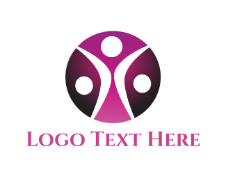 Meetup - Human Circle logo design