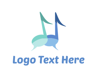 Pair - Music Chat logo design