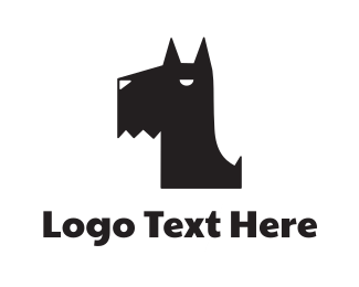 Angry - Black Puppy logo design