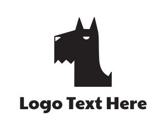 Hound - Black Puppy logo design