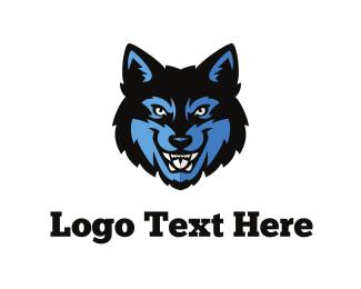 Soccer - Wolf Face logo design