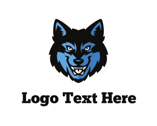 Baseball - Wolf Face logo design