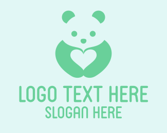 Nursery - Panda Love logo design