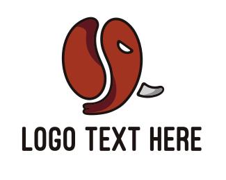 Tusk - Elephant Cafe logo design