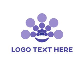 Centered - Purple Circles logo design