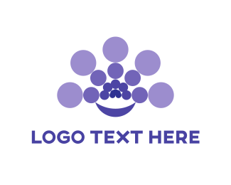 Balance - Purple Circles logo design
