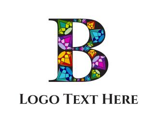 Elegant - Diamond Letter B  logo design