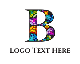 Silver - Diamond Letter B  logo design