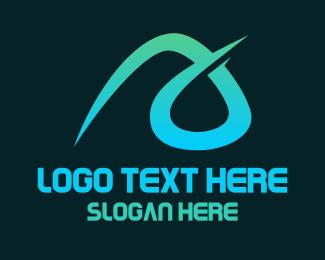 Clan - Aqua A Stroke logo design