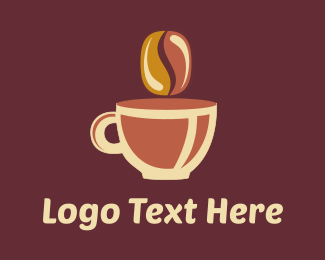 Mocha - Brown Coffee Cup logo design
