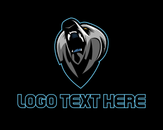 Grizzly - Black Bear Gaming logo design